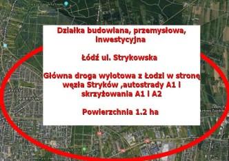 działka na sprzedaż - Łódź, Bałuty, Strykowska