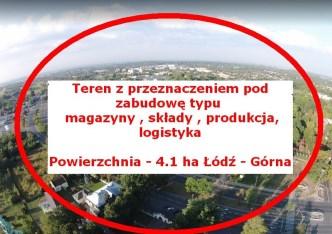 działka na sprzedaż - Łódź, Górna